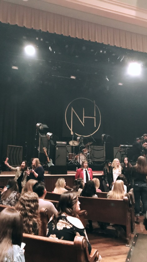The Ryman stage being set for Niall Horan.